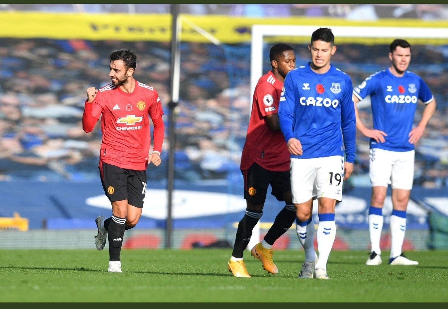 Bruno Fernandes vs Everton