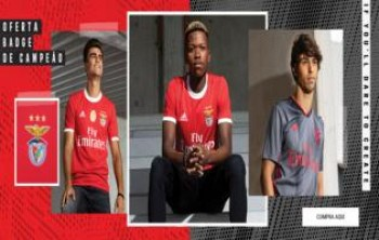 Maillots officiels de Benfica (photos SL Benfica.pt)